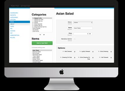 Приложение Koomi, панель управления, POS-система