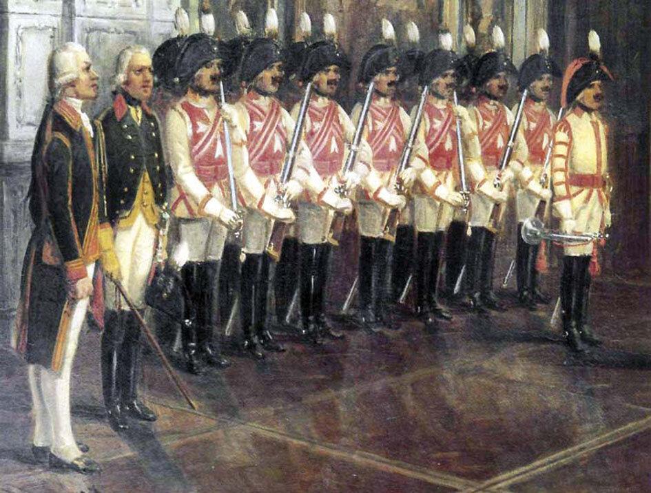 Гвардейский полковник Фёдор Шварц требовал, чтобы все его солдаты были с усами. Тем, у кого усы росли плохо, приклеивали горячим воском накладные. Причём так, чтобы они не падали во время учений