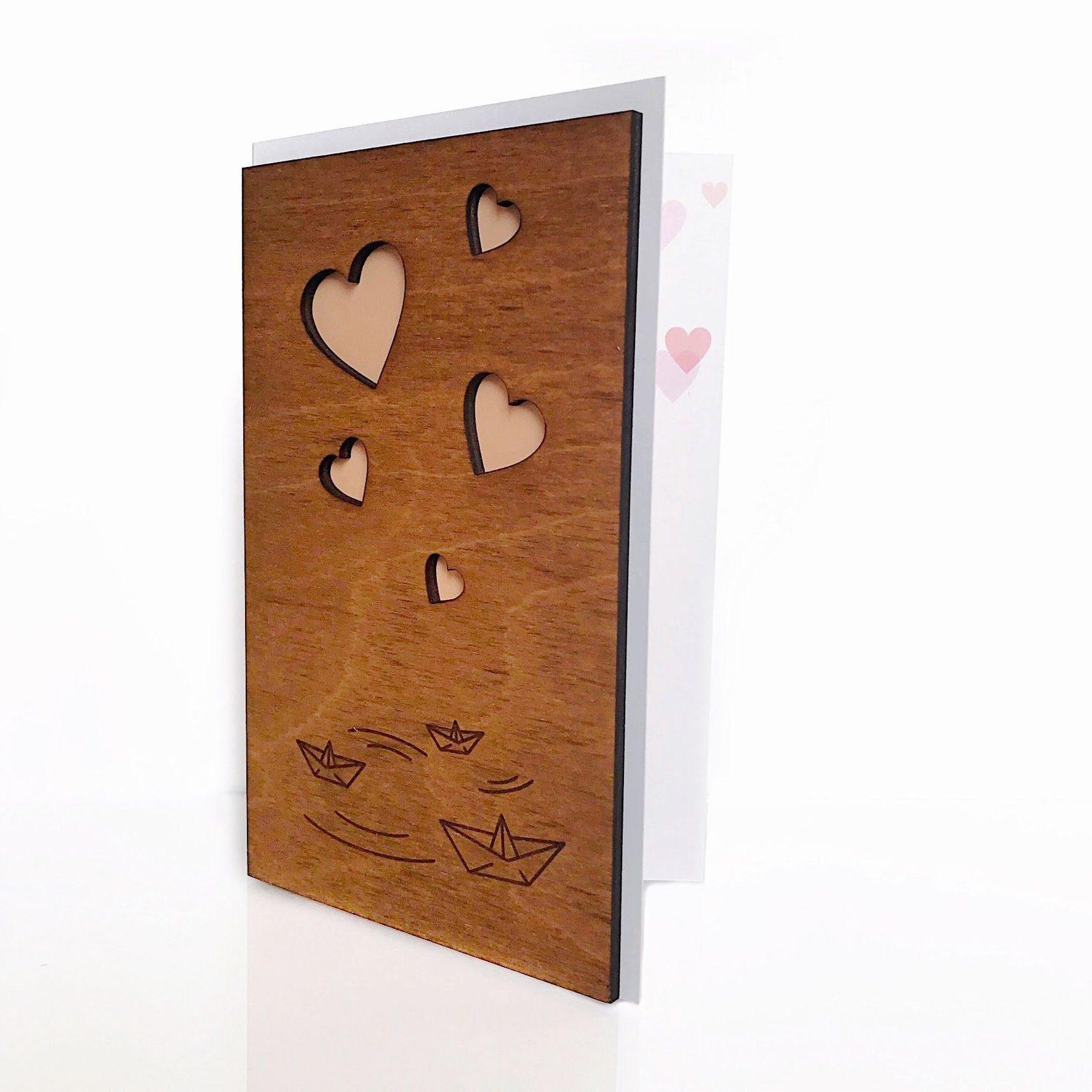 Открытки, изготовление деревянных открыток на заказ