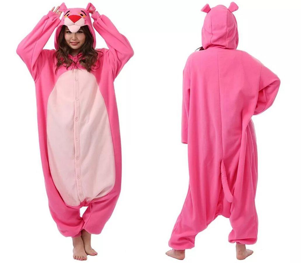 da4f3bc83eb4 Пижама кигуруми розовая пантера - классный костюмчик главного персонажа  серии короткометражных мультипликационных фильмов