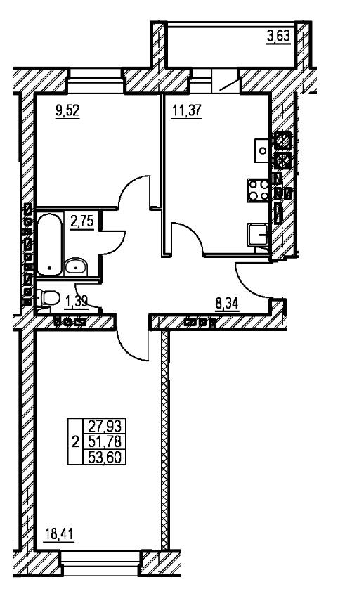 планировка трехкомнатной квартиры в жк на нагорной