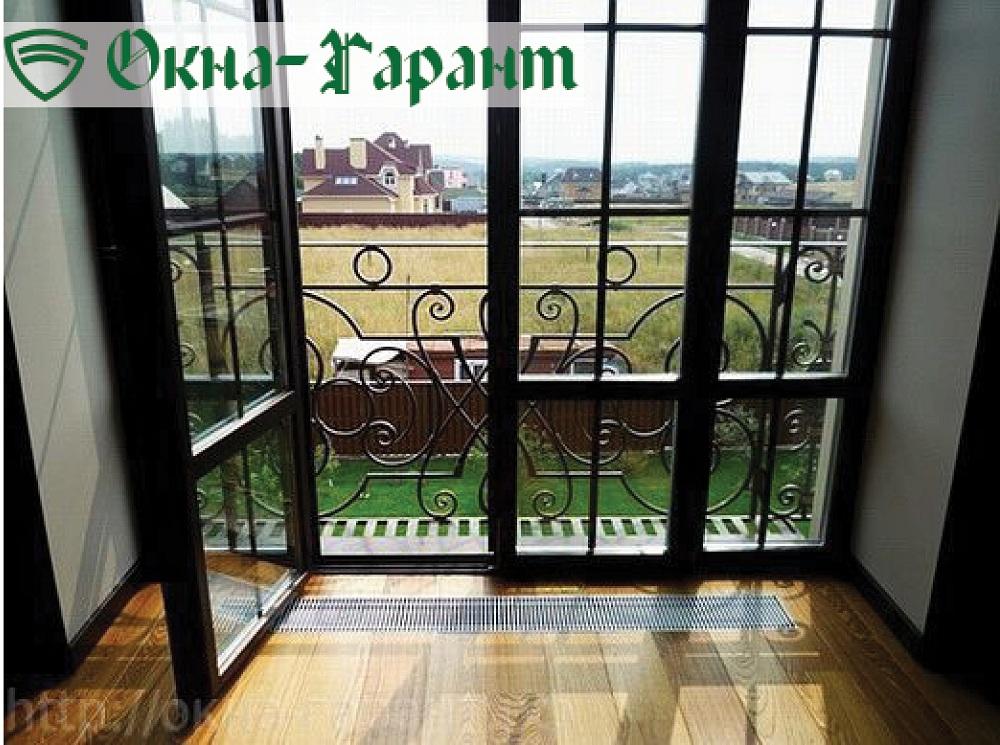 Французские окна, пластиковые окна в пол.