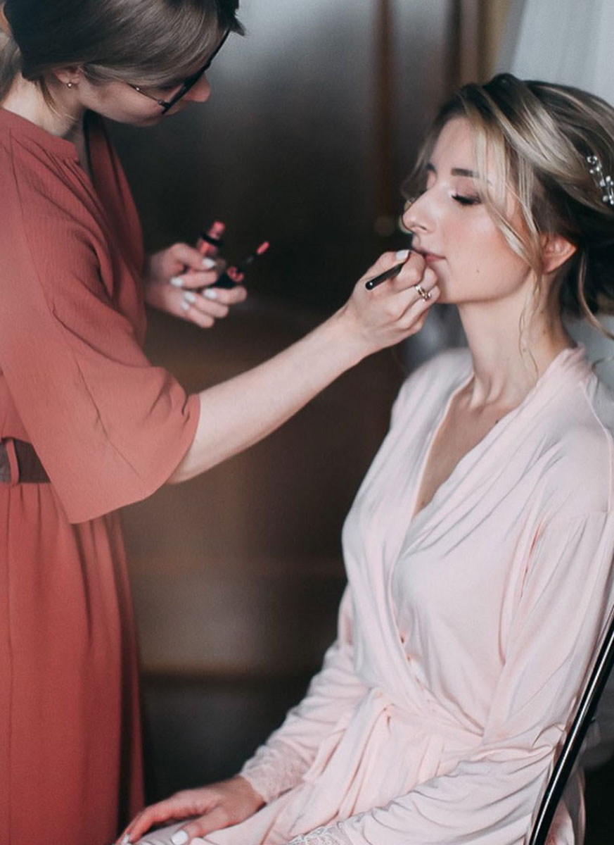 Свадебный макияж для русых волос для Анастасии