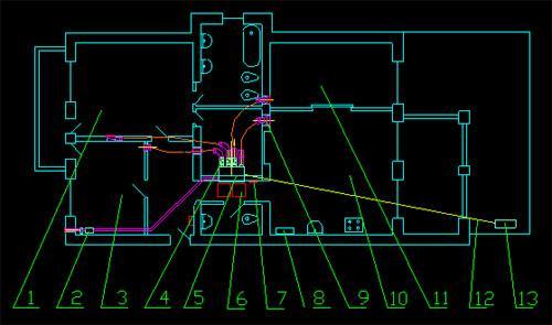 Схематичный проект кондиционирования квартиры