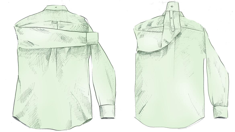 Складываем рубашку GANT, шаг 1
