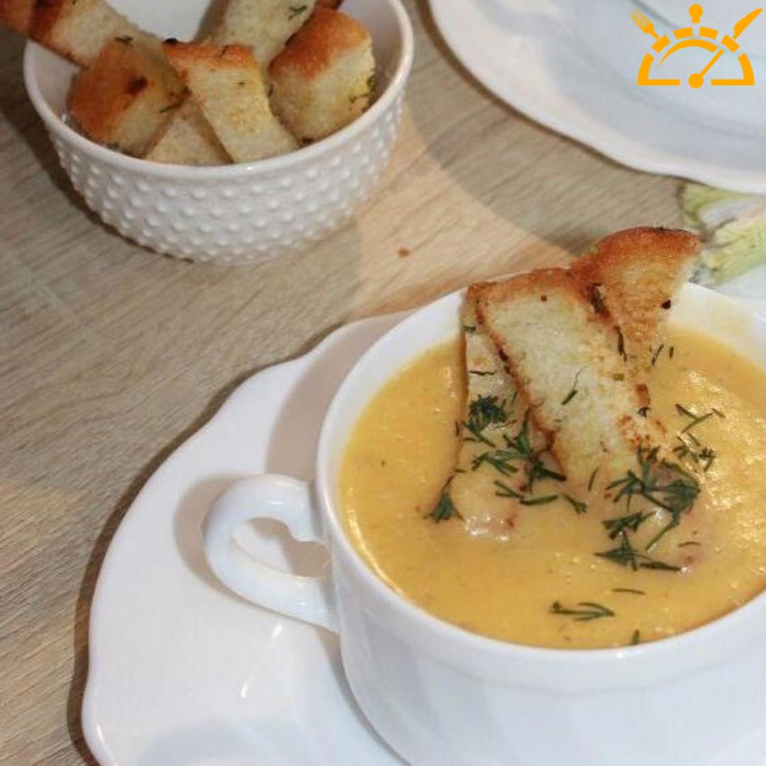 Суп пюре с плавленным сыром