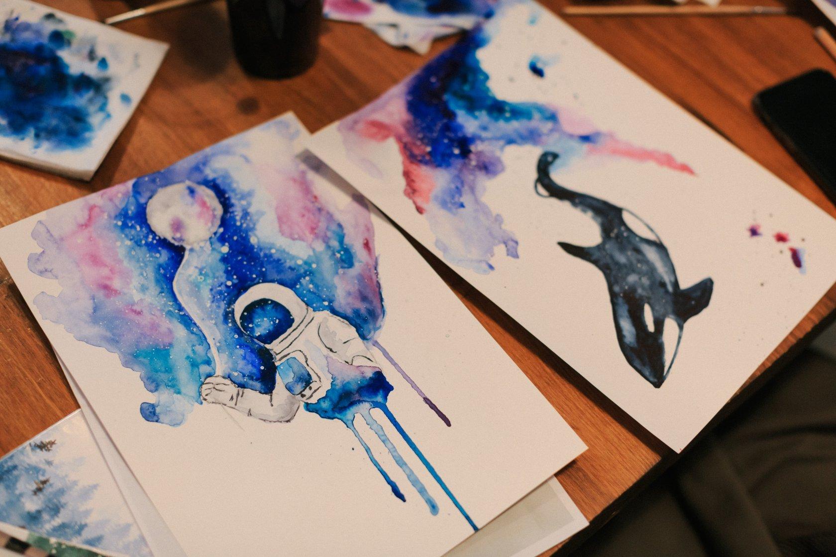 прикольные идеи для рисунков красками завоевали широкое признание