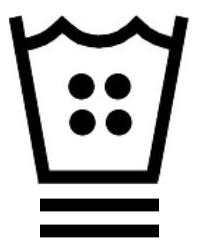 Знаци за пране с гореща вода до 60 градуса