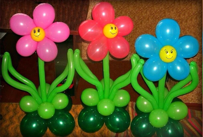 девочку украшения из надувных шаров с пошаговыми фото изделия