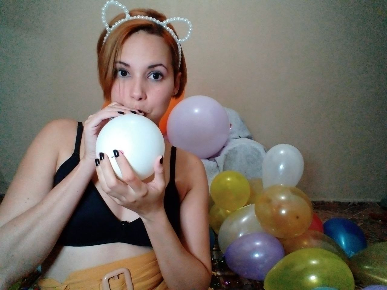 Fabi inflating balloons