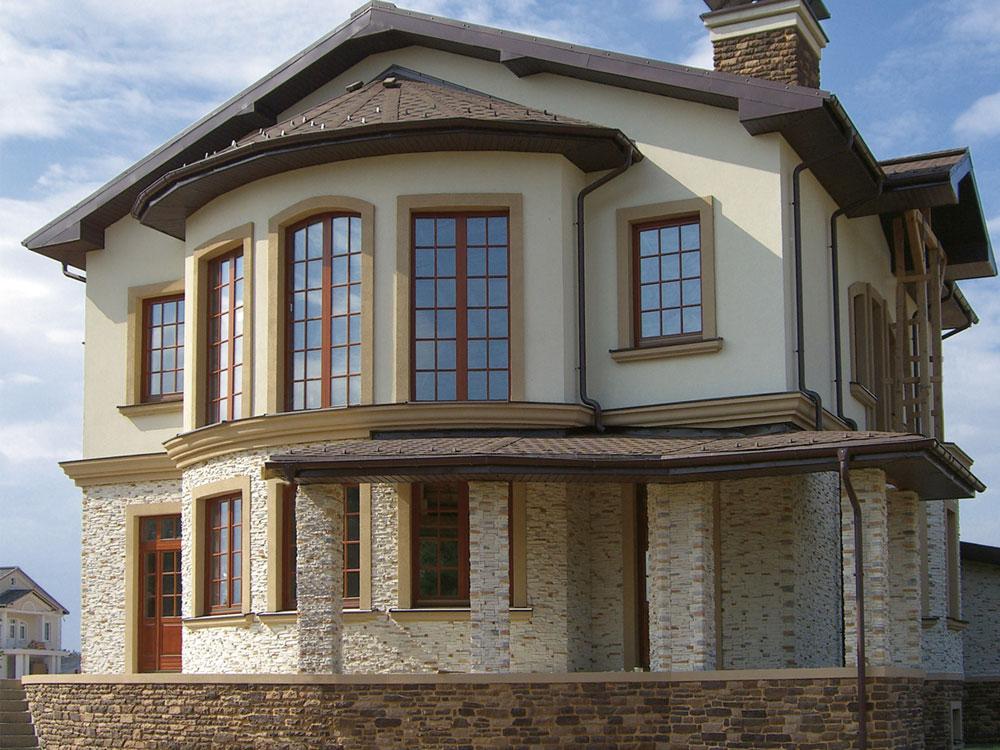 этом фото фасад дома штукатурка и камень необходимости может быть