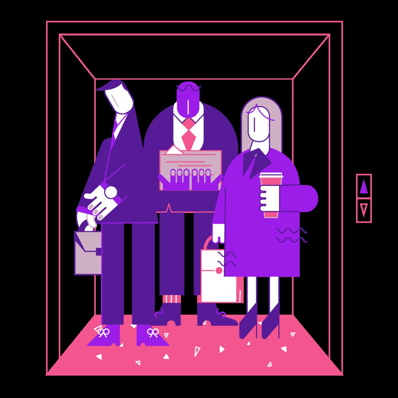 Обложка набора иллюстраций Workis на тему бизнес иллюстраций и офисной работы