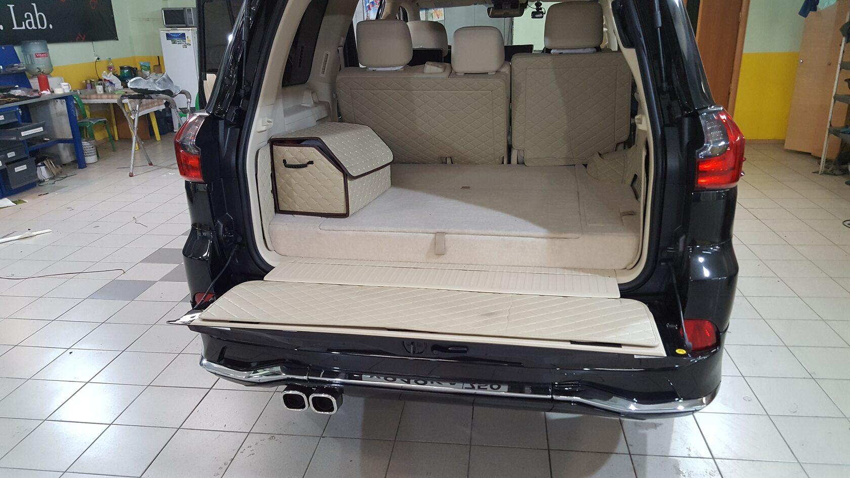 багажник с аудиоусилителями lexus lx 570