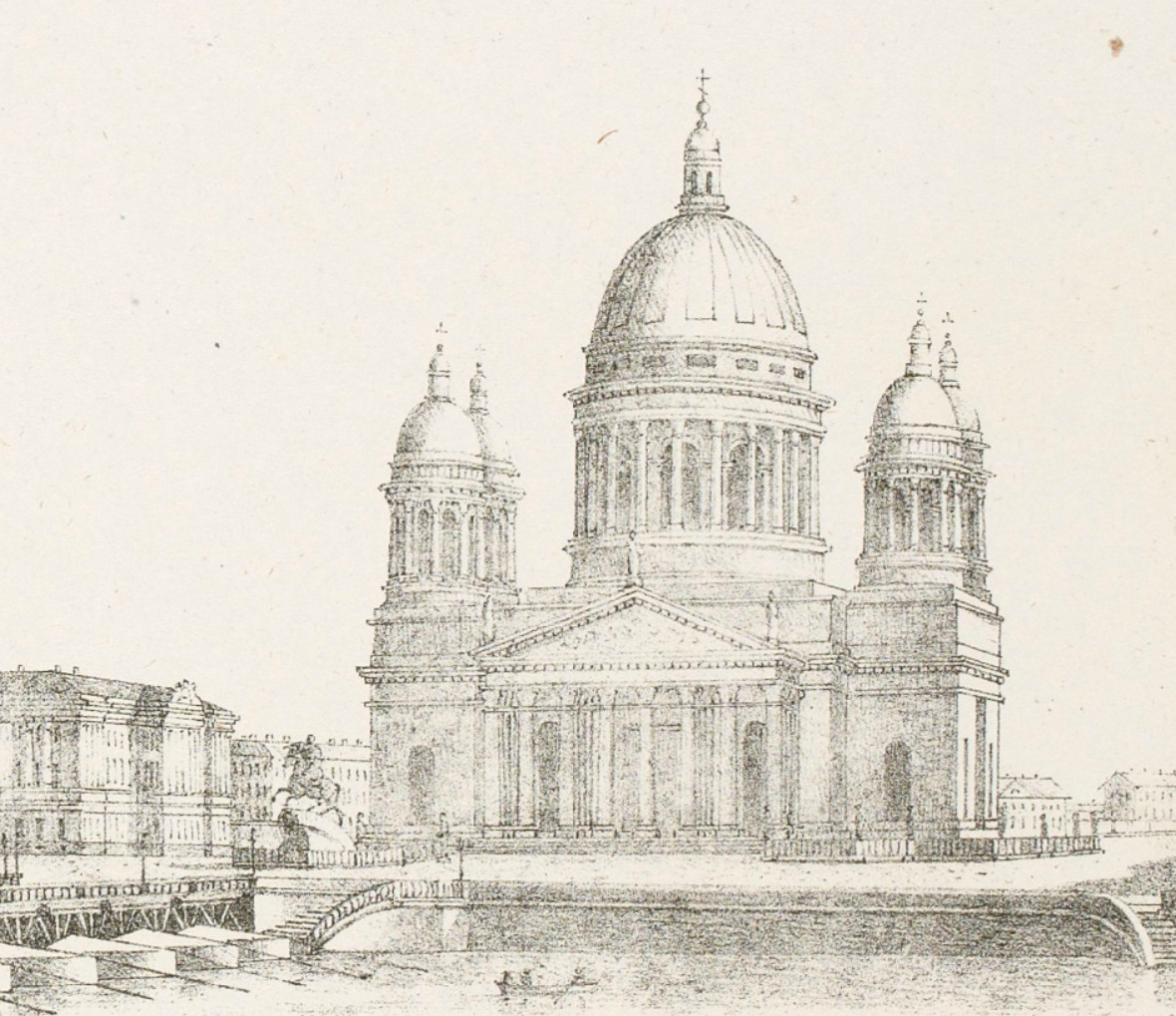 исаакиевский собор рисунки монферана фото натяжных потолков