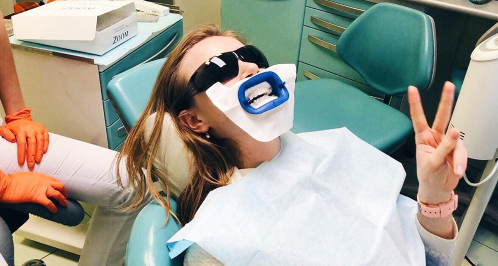 отбеливание зубов караганда