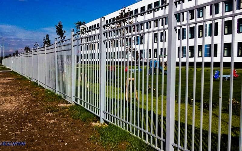 Сварной забор цвет серый