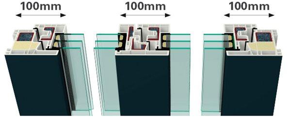 Gealan kubus разрез узел 100 мм