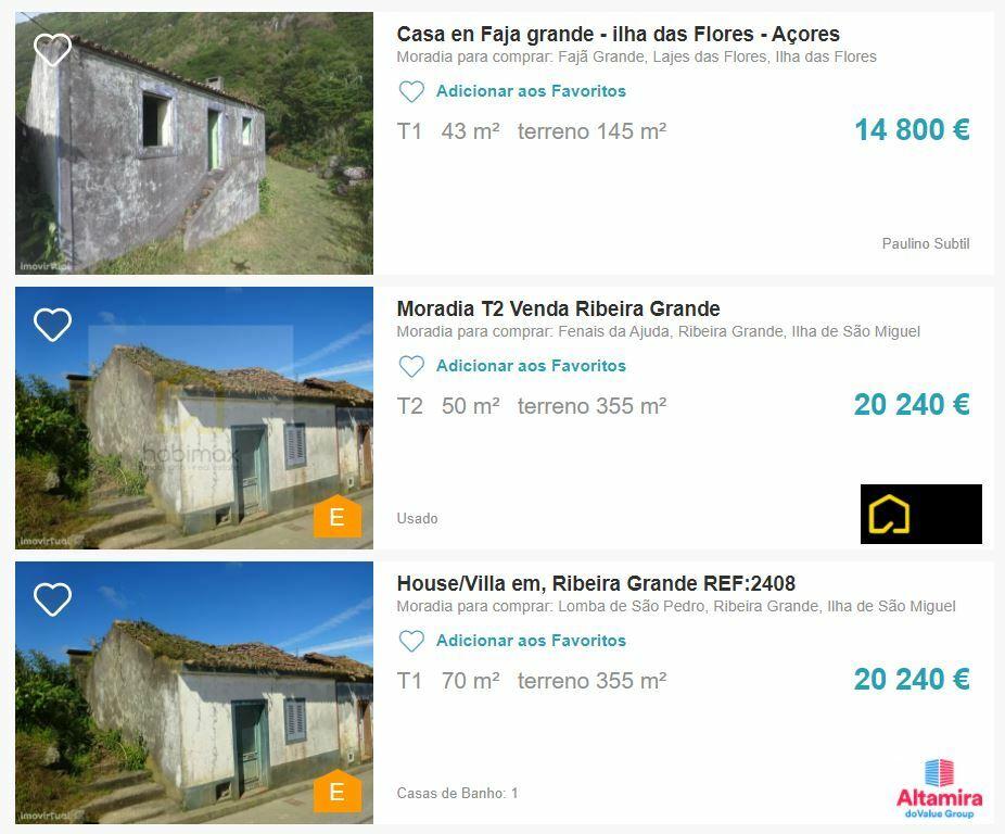 недорогой дом азорские острова