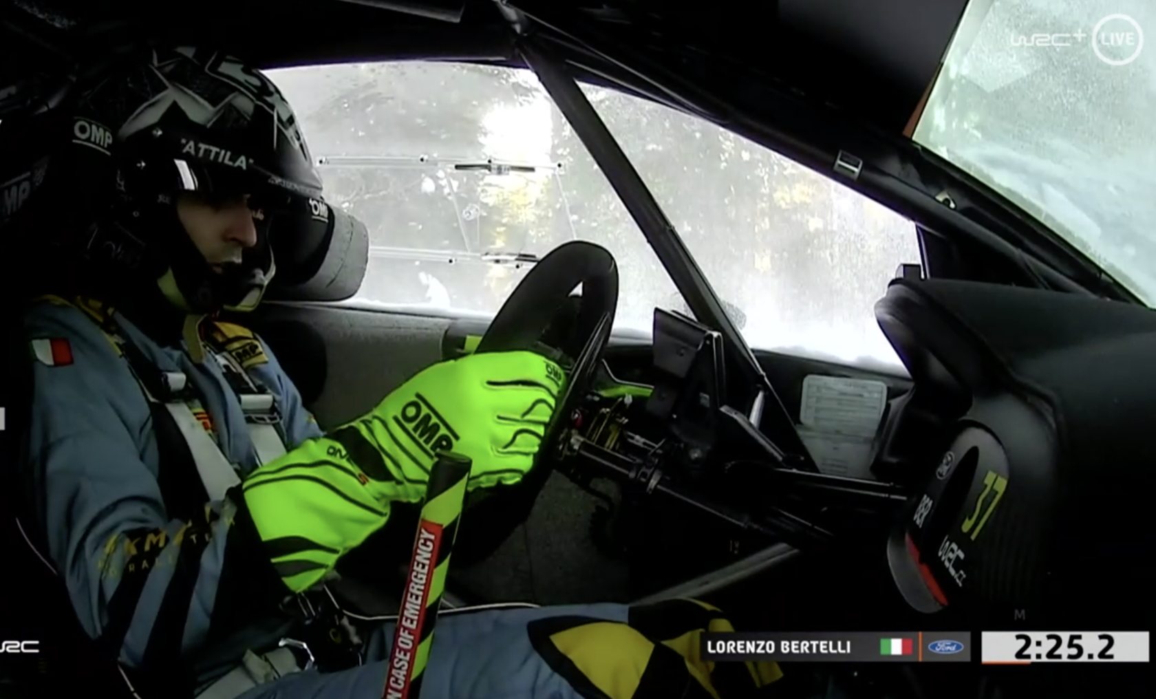 Сход: Лоренцо Бертелли, Ford Fiesta WRC, Arctic Rally Finland 2021