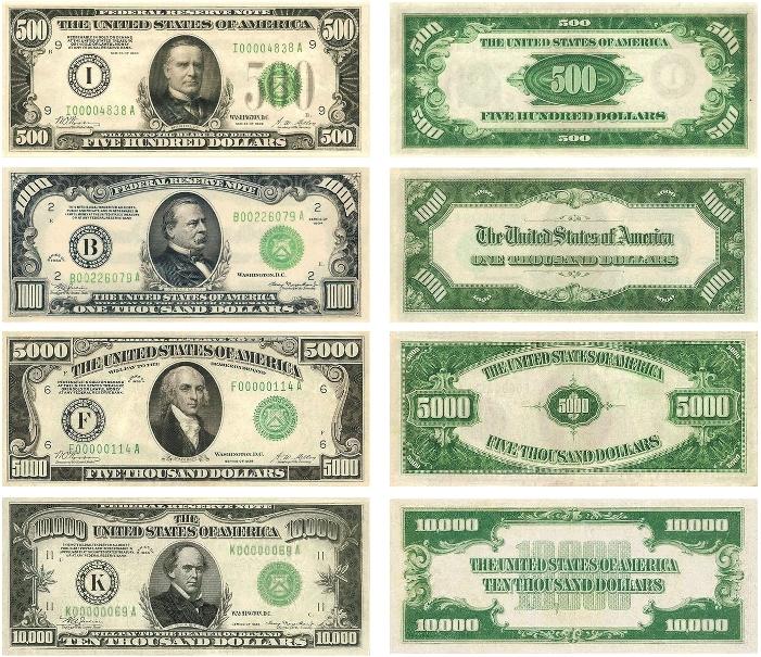 купюры доллар номиналы фото слов