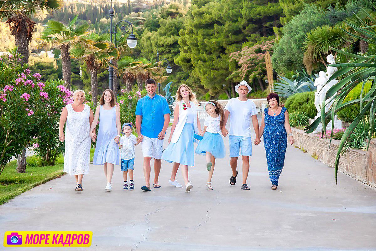 фотосессия для большой семьи в Крыму