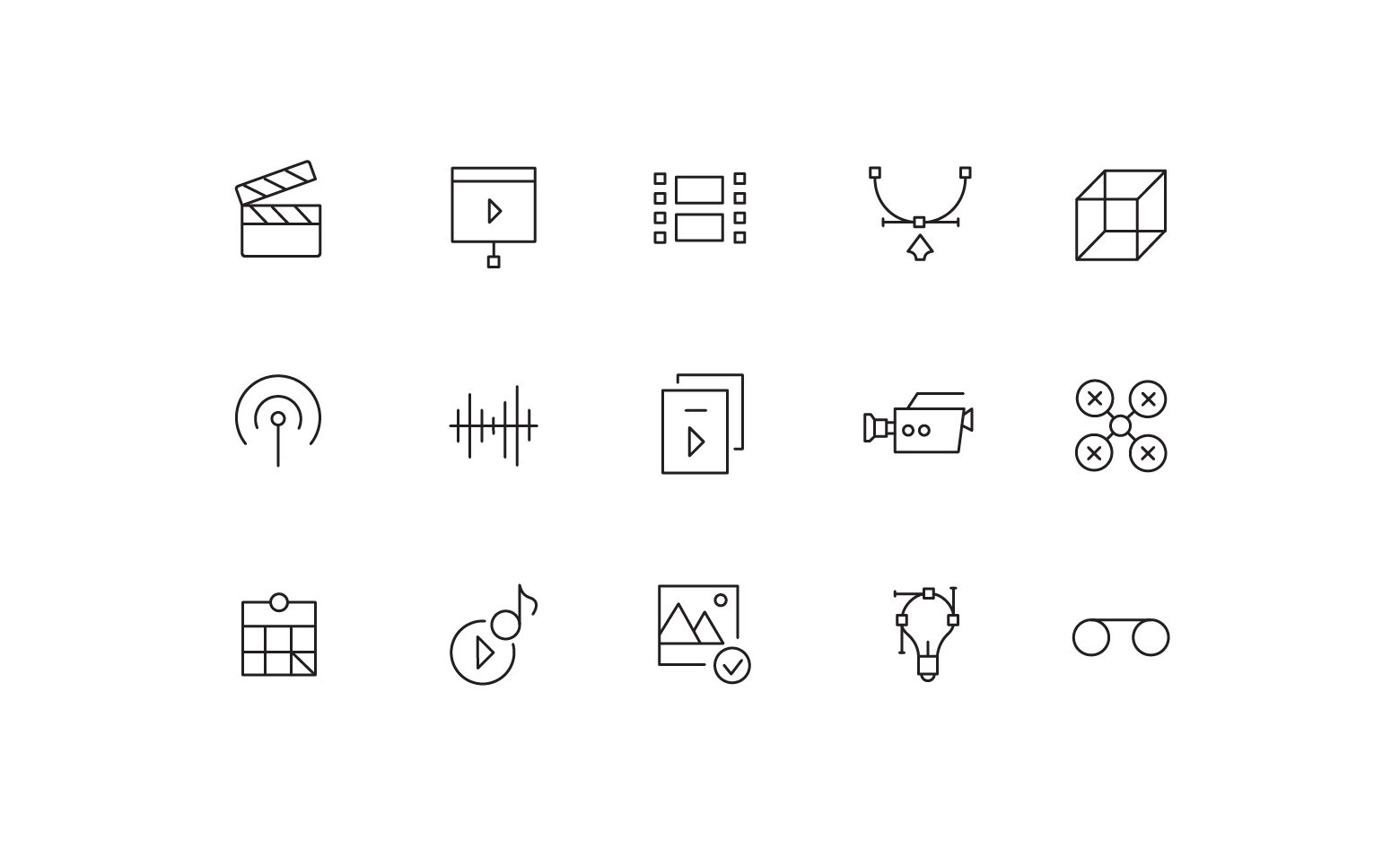 """Icons """"Video production"""""""