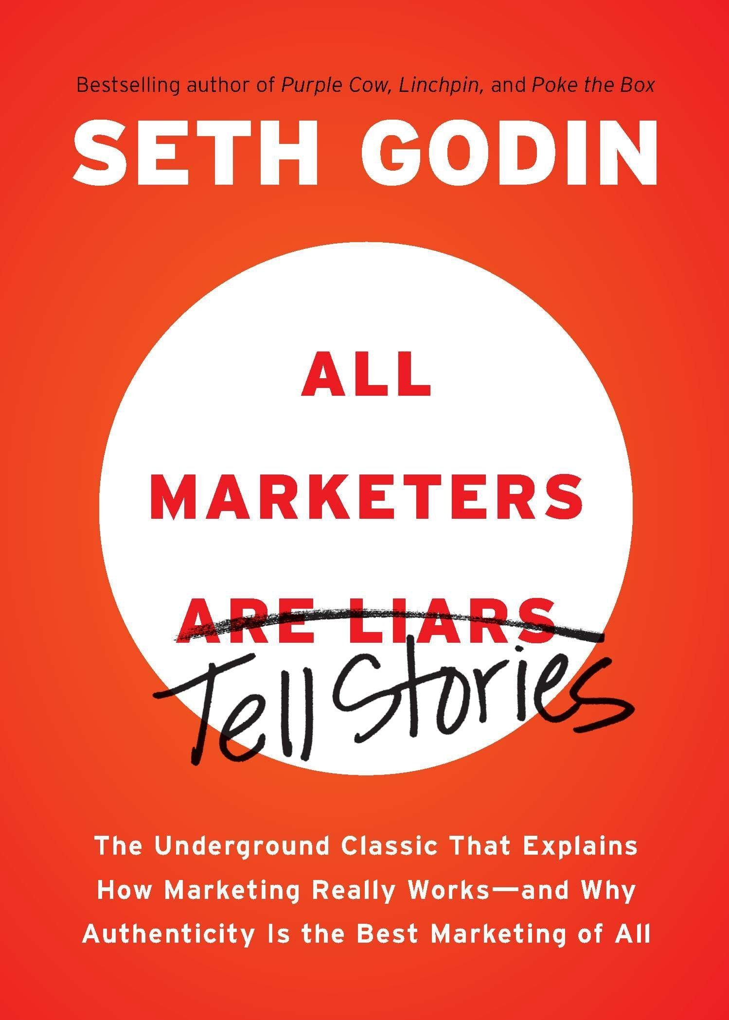 Book Cover for All Marketers Tell Stories by Seth Godin