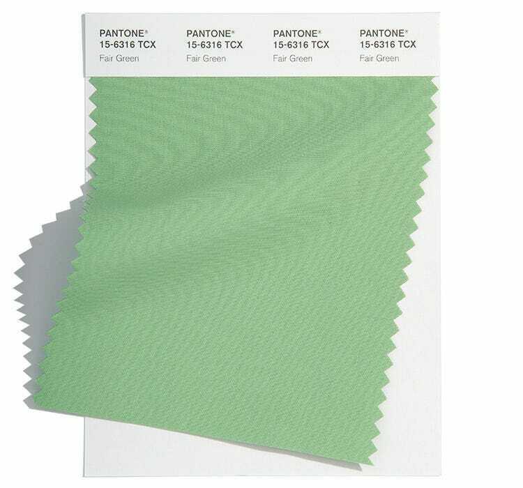Fair Green е спокоен пастелен зелен цвят, който е определен за един от актуалните класически цветове за пролет-лято 2022 според Pantone