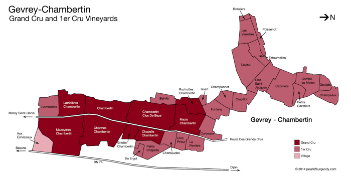 Gevrey-Chambertin Grand Crus map