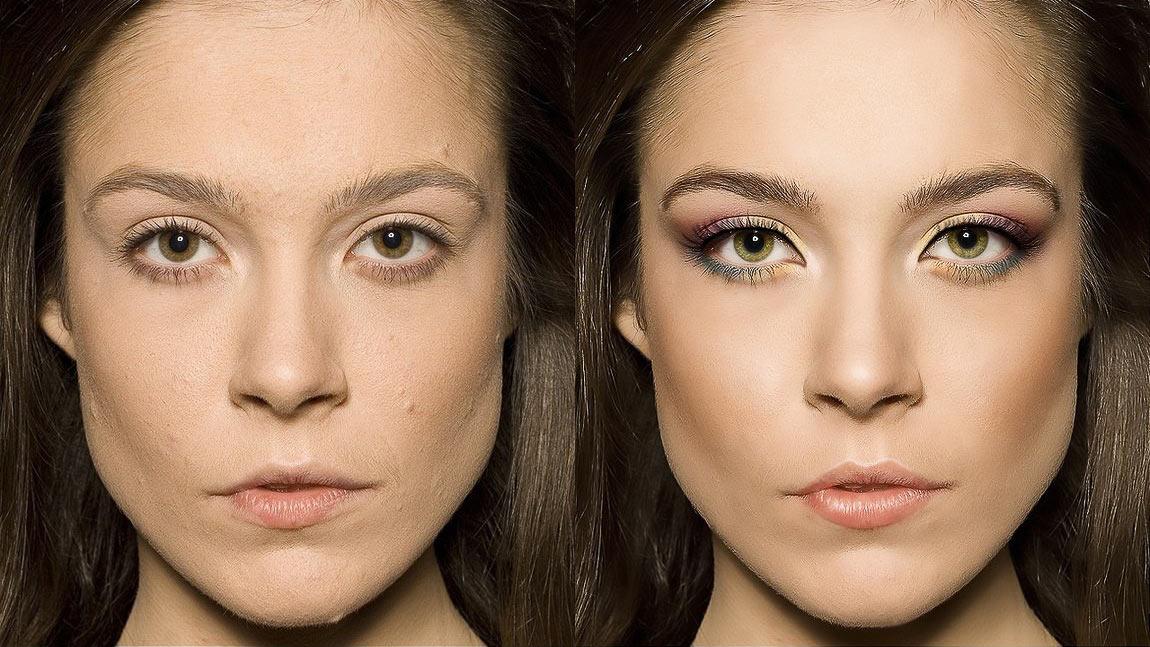 ретушь и макияж портретных фото