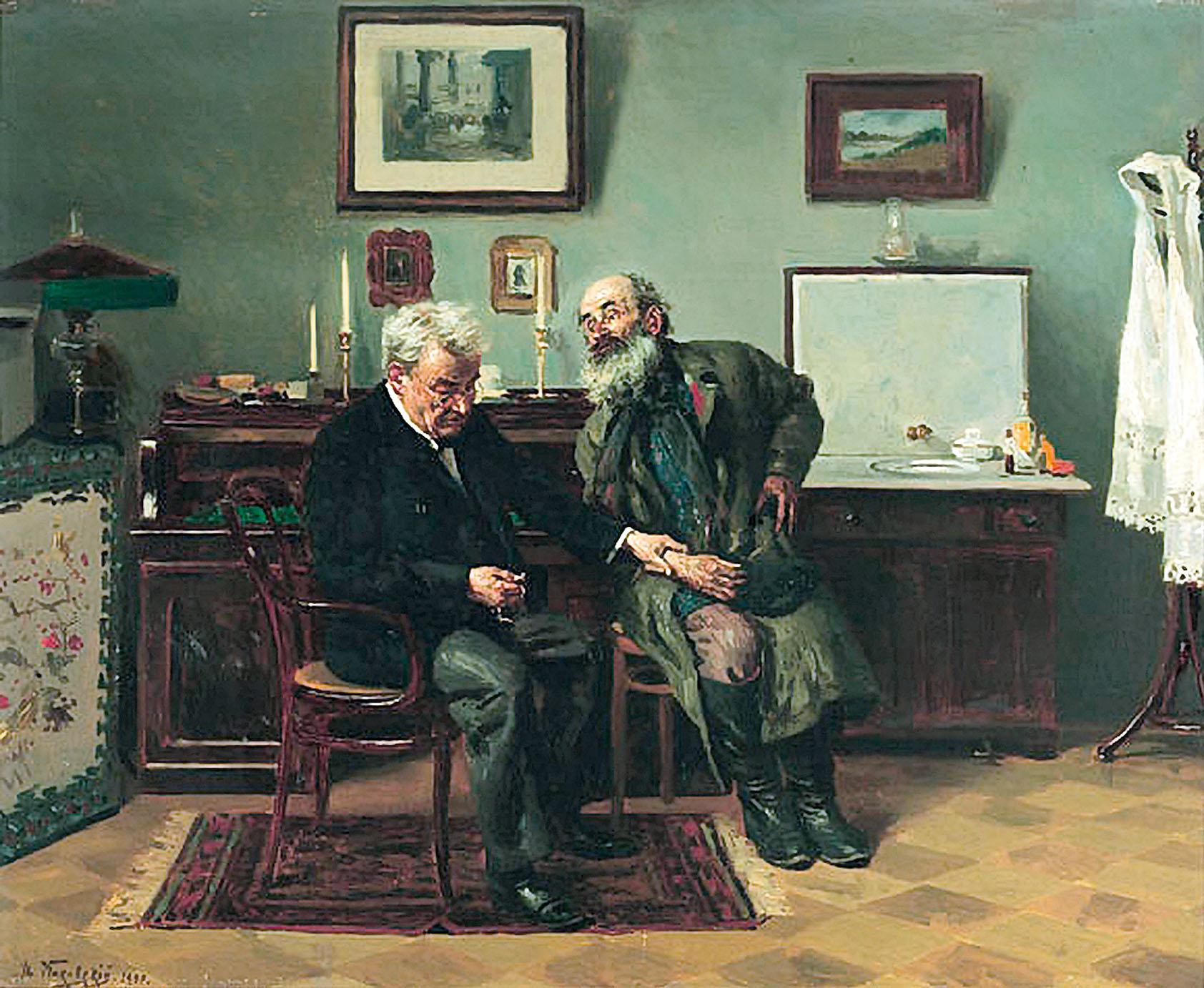 Владимир Маковский. «На приеме у врача» (1900)