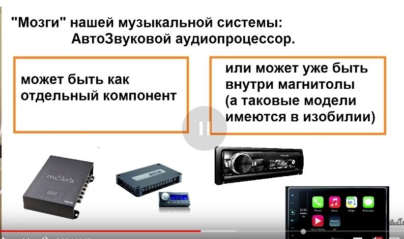 аудиопроцессор в авто для звука виды