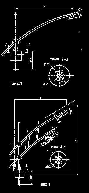 Кронштейн для консольных светильников — «Стрела»