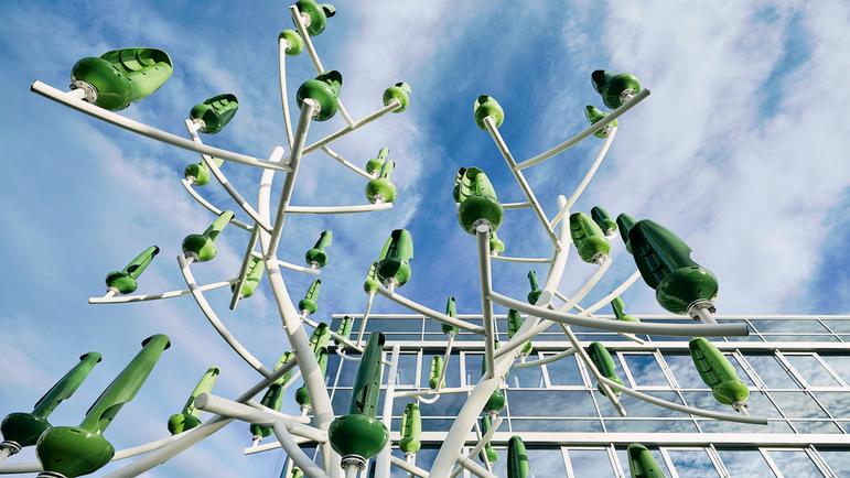 На предприятии Endress+Hauser в Герлингене, Германия, электроэнергия вырабатывается экологичным способом благодаря ветрогенератору с турбинами небольшого размера