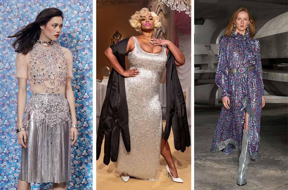 Silver party или дрехите със сребро ще са модерни и през 2022 според световните модни дизайнери.