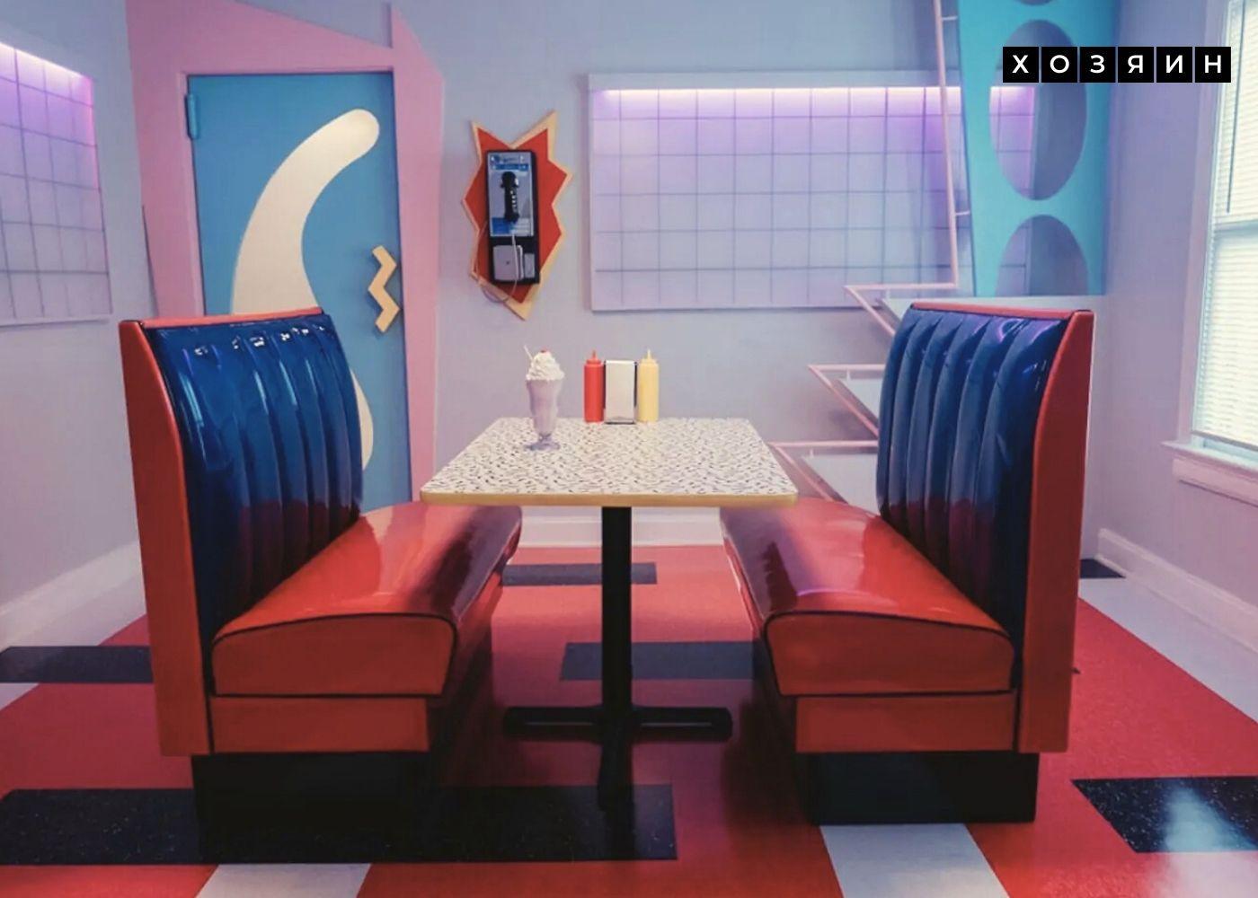 Дизайн квартиры для сдачи в аренду в тематическом стиле Америки 90-х.