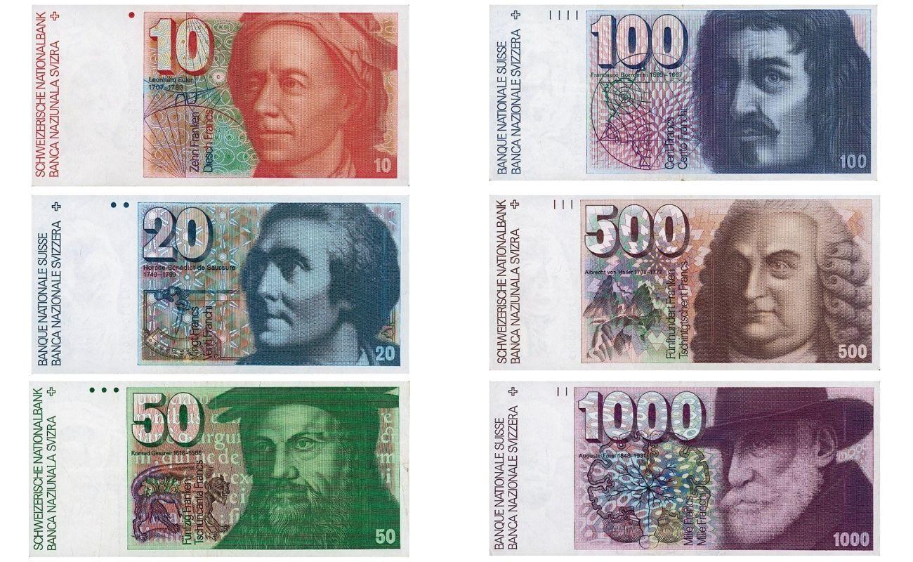 Банкноты шестой серия швейцарских франков
