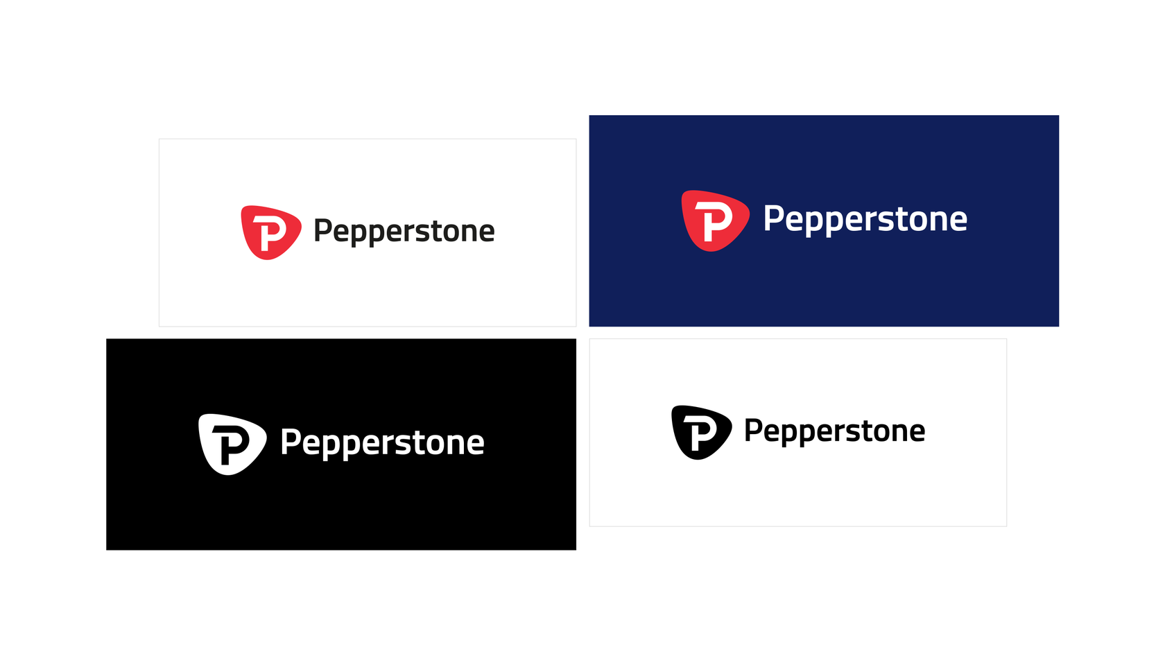 Pepperstone logo versions