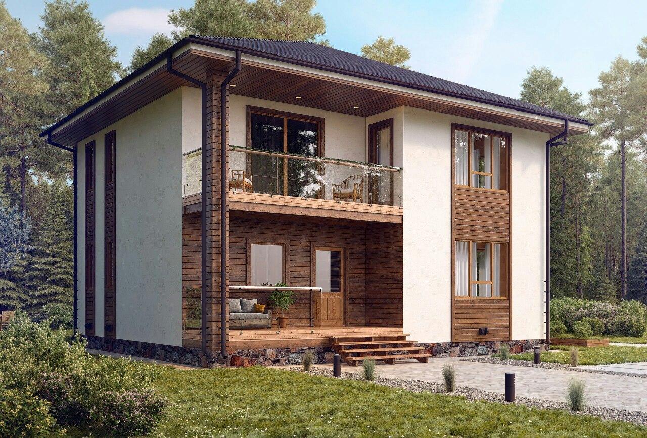 дом из газобетона с балконом фото можно