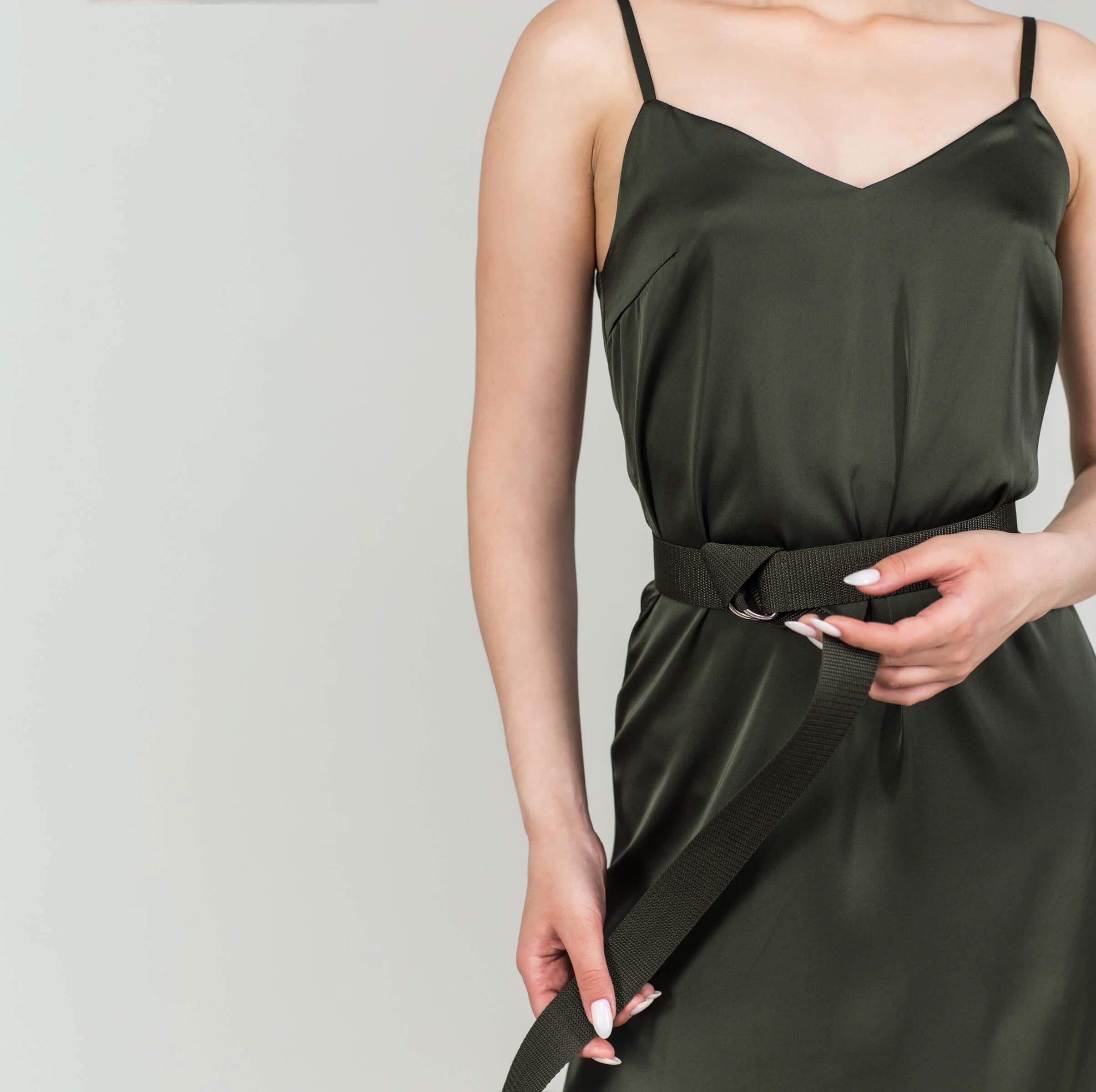 Платье-комбинация разрез по бокам