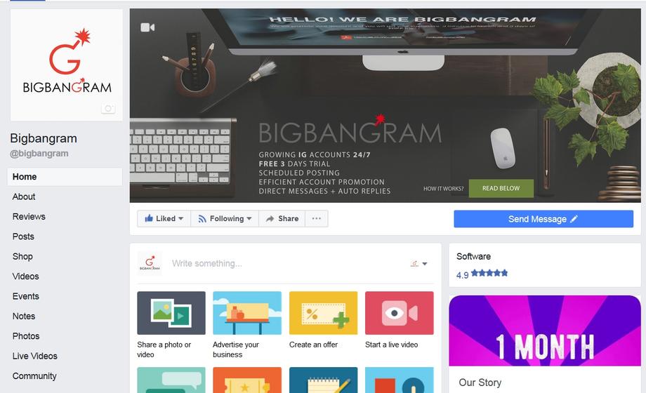 Social Networks Facebook BigBanGram