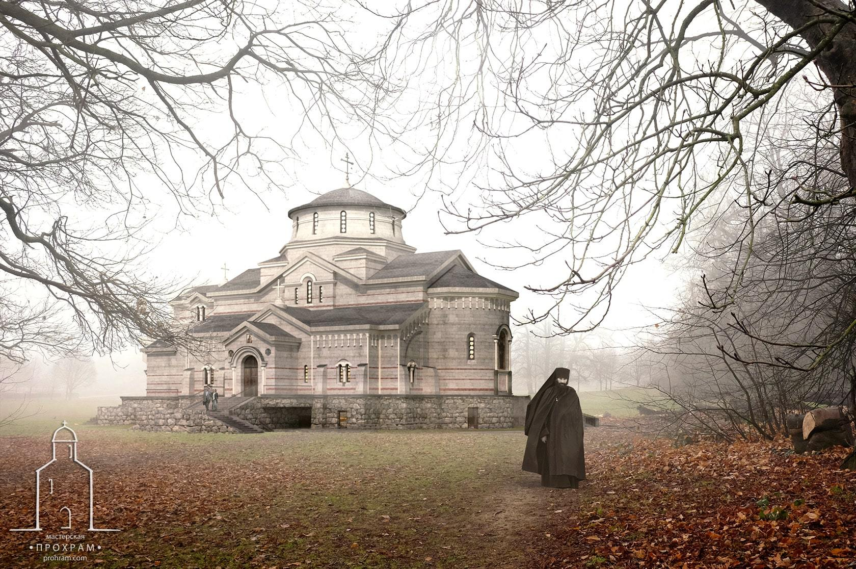orthodox church, sacred architecture, orthodox church project, church in honor of the Holy Trinity