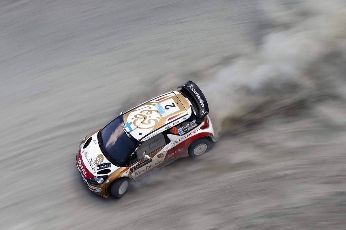 Микко Хирвонен и Ярмо Лехтинен, Citroen DS3 WRC, ралли «Акрополис» 2013