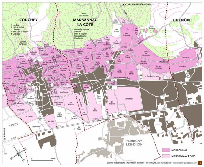 Map of Marsannay