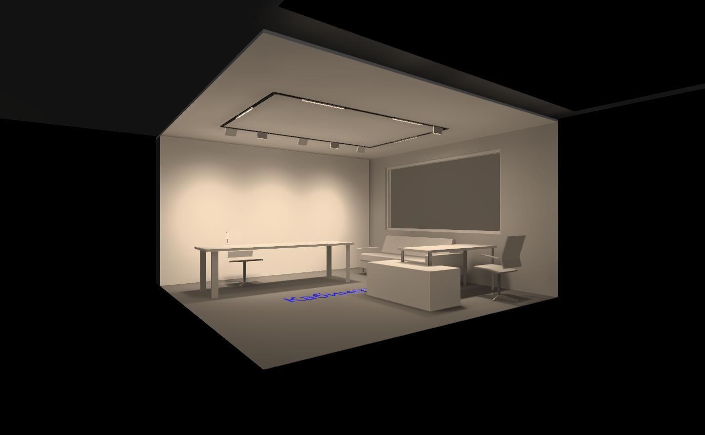 Дизайн профильной системы освещения для кабинета