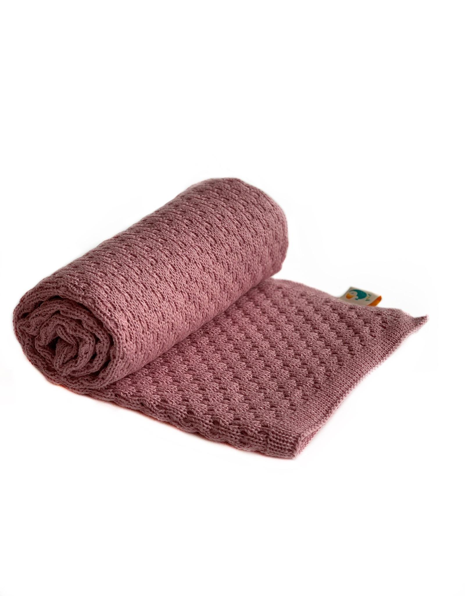 Хлопковый плед Air пыльная роза купить в интернет-магазине toucankids.ru от производителя по низкой цене
