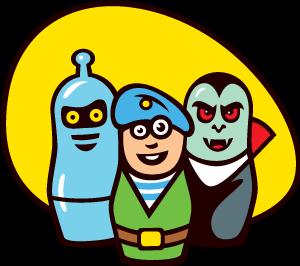 Герои Матрёшки логотип проекта и творческого набора