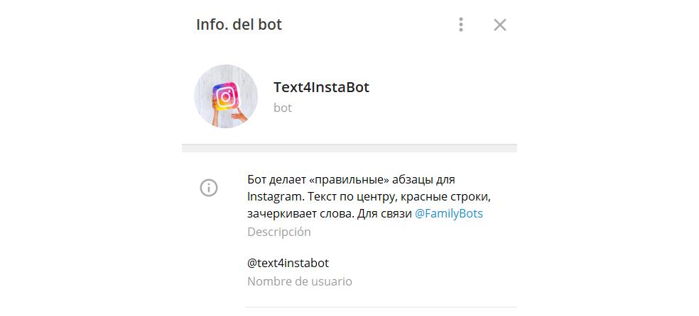 Text4InstaBot