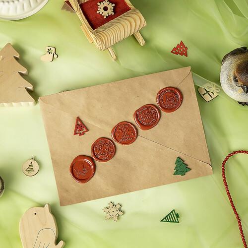 Новогодняя печать (оттиск) Деда Мороза