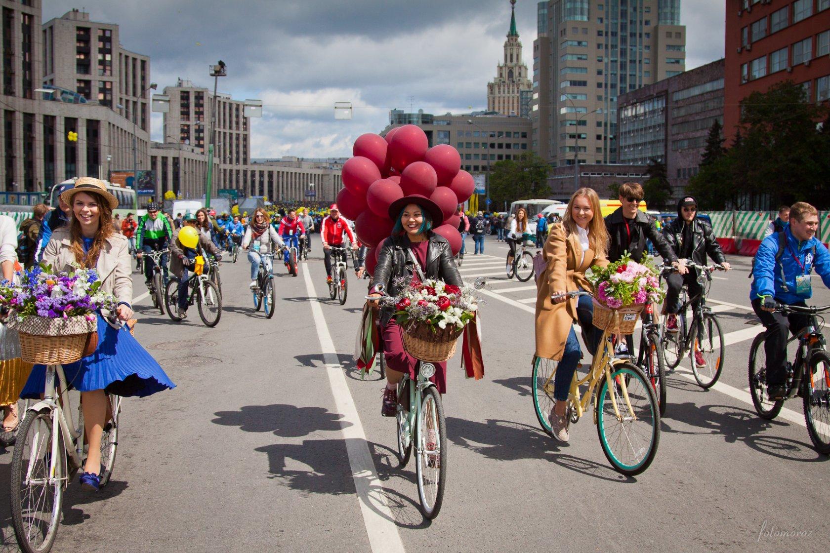московский велопарад фото минувшей